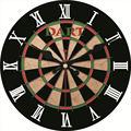 RIHE Дартс-мишени  большие деревянные настенные часы  настенные часы для домашнего декора  учебы  без тикового звука  креативный Декор