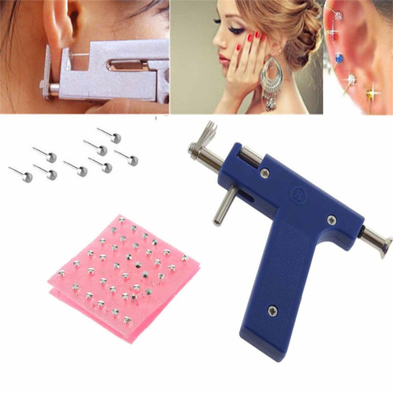 1PCS Ear Nose Navel Professional Body Piercing Gun Tool Kit Ear Nose Body Navel Piercing Gun With Ears Studs Tool Jewelry Tool