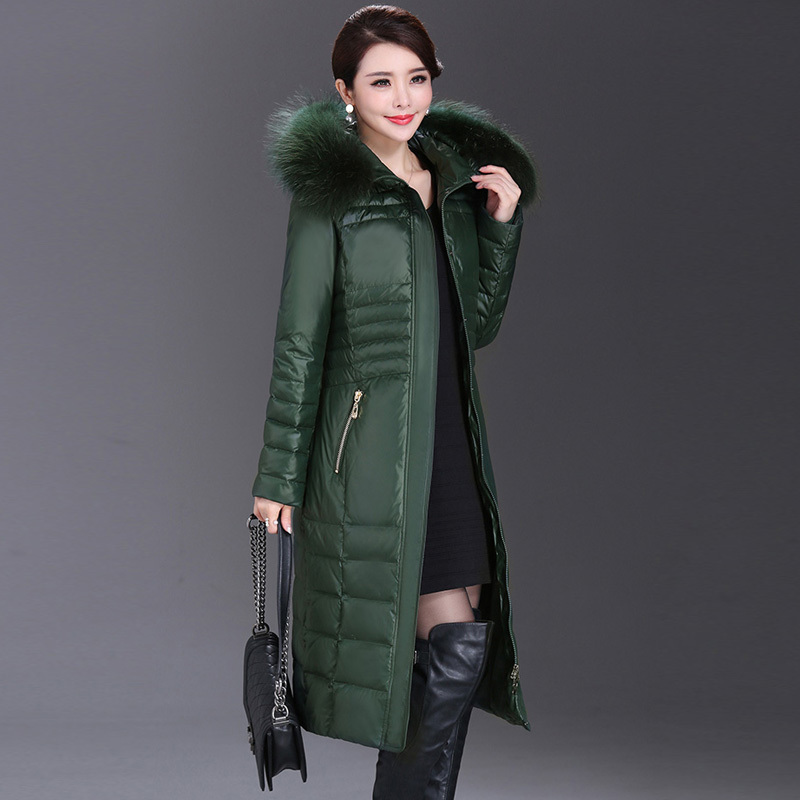 Plus Size Women's Down Jacket Real Fox Fur Hooded Clothes 2020 Korean Thick Warm Duck Down Coat Ladies Long Overcoat 1608
