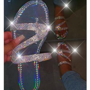 Sandals Slippers Jelly-Shoes Plus-Size Women Ladies Flip-Flops Slides Transparent Female