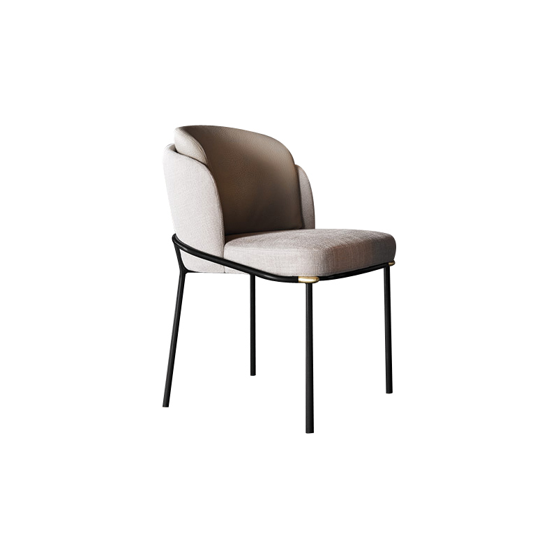 Italian Minimalist Dining Chair Carbon Steel Fabric Dining Chair Simple Light Luxury Chair Comfortable Coffee Shop Chair Enginee