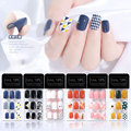 30Pcs Japanese Non-marking Removable Fake Nails All-inclusive Patterned Design Portable and Wearable Finished Nail Art Design