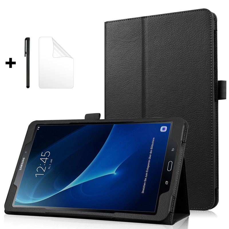 Ultra Slim Flip Cover Stand PU Leather Case for <font><b>Samsung</b></font> <font><b>Galaxy</b></font> <font><b>Tab</b></font> <font><b>A</b></font> <font><b>10.1</b></font> 2016 Case <font><b>T580</b></font> T585 SM-<font><b>T580</b></font> SM-T585 <font><b>Tablet</b></font> <font><b>Funda</b></font> Coque image