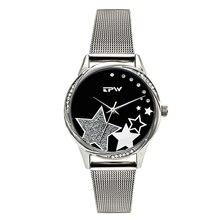 TPW Star Steel Women Watch Dress Lady Fashion Japanese Movement Quartz Clock