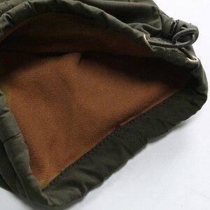 Image 4 - Uomini Cargo Pant Inverno Caldo di Spessore Pantaloni di Lunghezza Completa Multi Tasca Elastico In Vita Pile Foderato Larghi Militare Tattico Pantaloni di Sesso Maschile