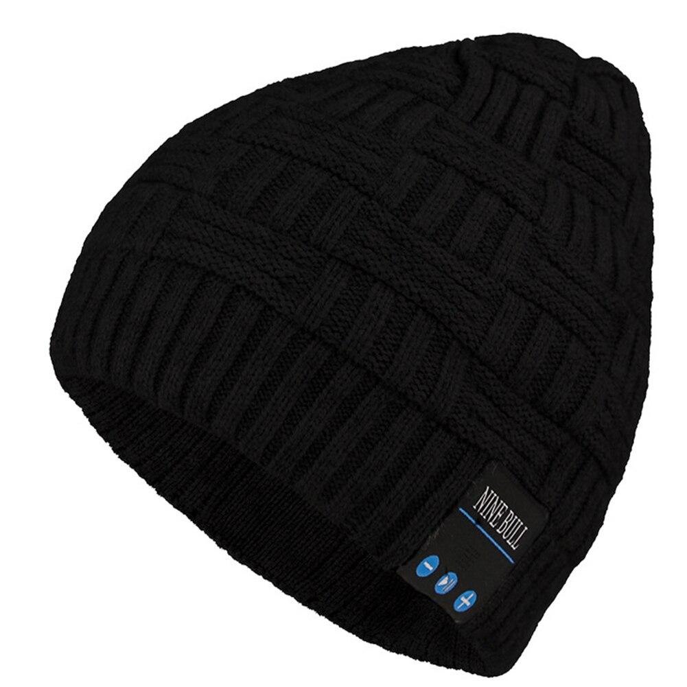 Men Women Bluetooth Beanie Music Cap Running Hands Free Winter Warm Outdoor Fitness Wireless Headphone Riding Volume Adjustable
