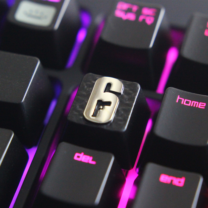 SIANCS 1Pcs DIY Rainbow Six Siege Keycap Zinc Aluminum Alloy  For Mechanical Keyboard Stereoscopic Relief Game Keycap R4 Height
