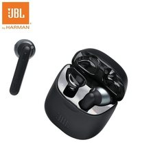 JBL TUNE220 TWS słuchawki Bluetooth bezprzewodowe słuchawki douszne słuchawki douszne z etui z funkcją ładowania 16 godzin czas odtwarzania