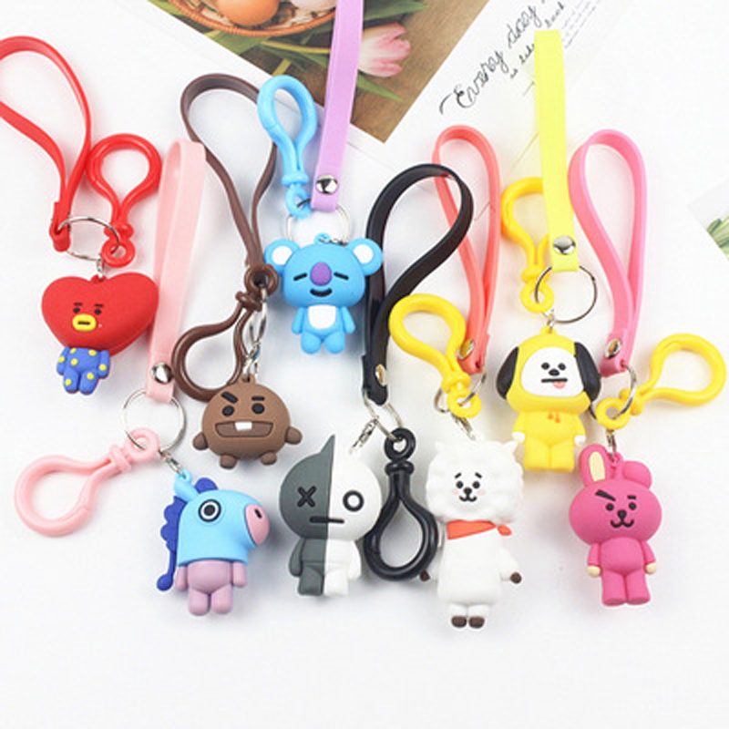 Lateefah Cute Cartoon Doll Keychain Toys Chain For Women Men Pendent  Trendy Key Chain Accessories Creative Jewelry