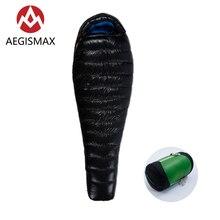 цена на AEGISMAX G1 Long Outdoor Camping Ultra-Light Mummy White Goose Down Sleeping Bag Spring Autumn Nylon Sleeping Bag