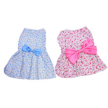 Свадебные платья для собак, милое Цветочное платье для собак, для маленьких собак, осенняя одежда для чихуахуа, мопса, Йоркского щенка, одежда для кошек, 5 размеров