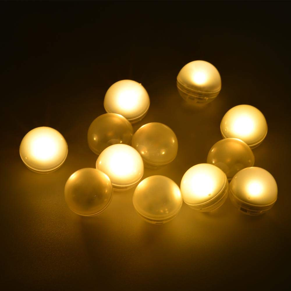 IP68 Waterproof LED Ball Floating Vase Light RGB Underwater Submersible Swimming Pool Lights For Vase Wedding Party Baby Shower