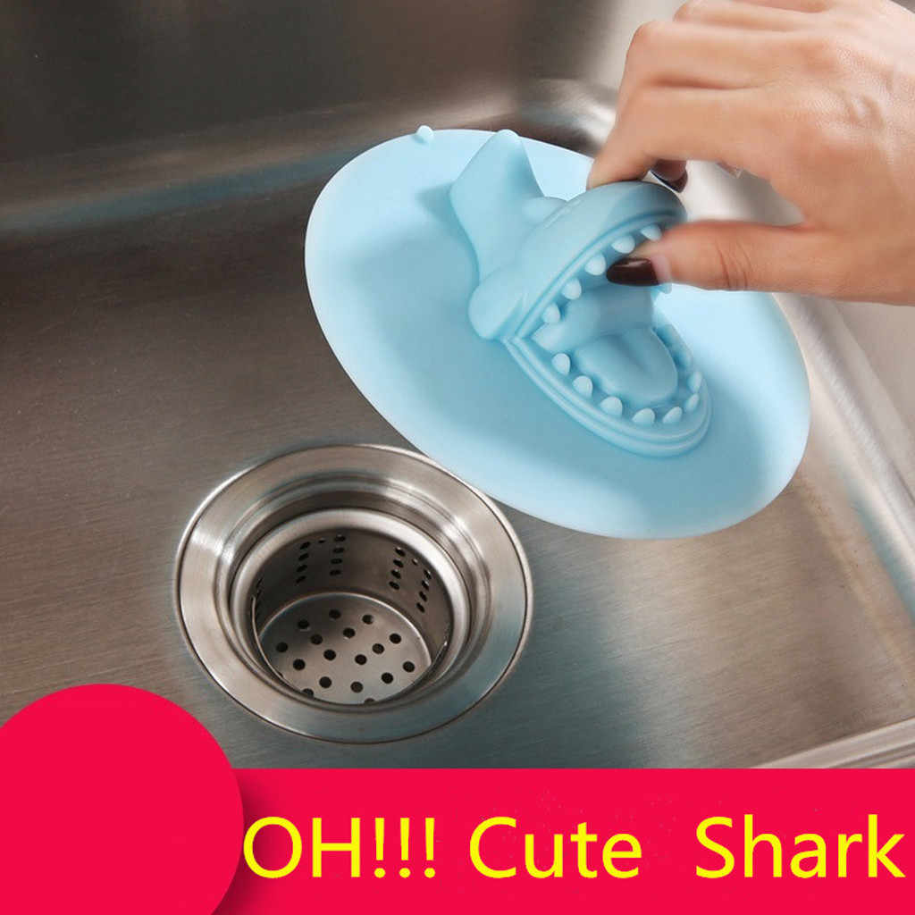 New 1pc Floor Creative Shark Leaking Kitchen Sink Stopper Sink Anti Clogging Bathroom Tub Stopper For Kitchen Drop Ship 2020 Colanders Strainers Aliexpress