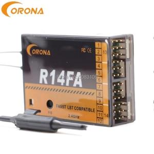 Image 4 - קורונה R4FA R6FA F8FA R14FA 2.4Ghz FUTABA T8FG 12FG 14SG 16SZ 18MZ Fasst תואם מקלט עבור RC קבוע  מטוסי כנף