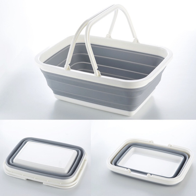 Multi-functional Fashion Foldable Travel Storage Basket Portable Household Kitchen Mention Basket Fruit And Vegetable Cleaning S