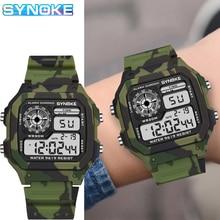 Digital Watches Military SYNOKE Waterproof Kids Children Camouflage Colorful Luminous