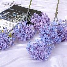 Pas cher 3 têtes 68cm fleur artificielle hortensias branche bricolage fête de mariage scène fond disposition fleur matériaux décor pour la maison