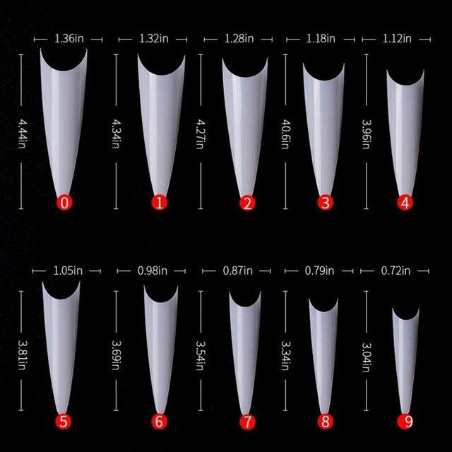 600 искусственная накладка для ногтей прозрачная акриловая французского фотография