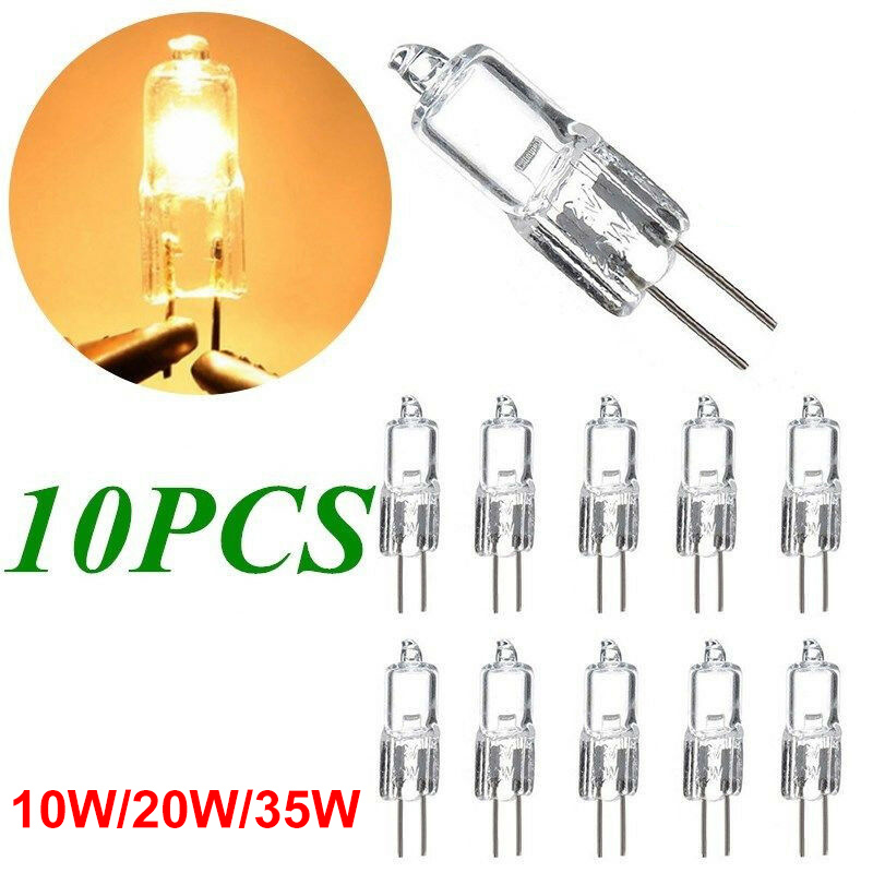10pcs Ultra G4 12V 20w Halogen Lamp10W /35W Bulb Inserted Beads Crystal Lamp Halogen Bulbs
