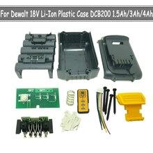 DCB200 DCB201 DCB204 Li ion pil plastik kapak durumda PCB şarj PCB için Dewalt 18V 20V 1.5Ah 3.0Ah 4.0Ah 6.0Ah takım konut