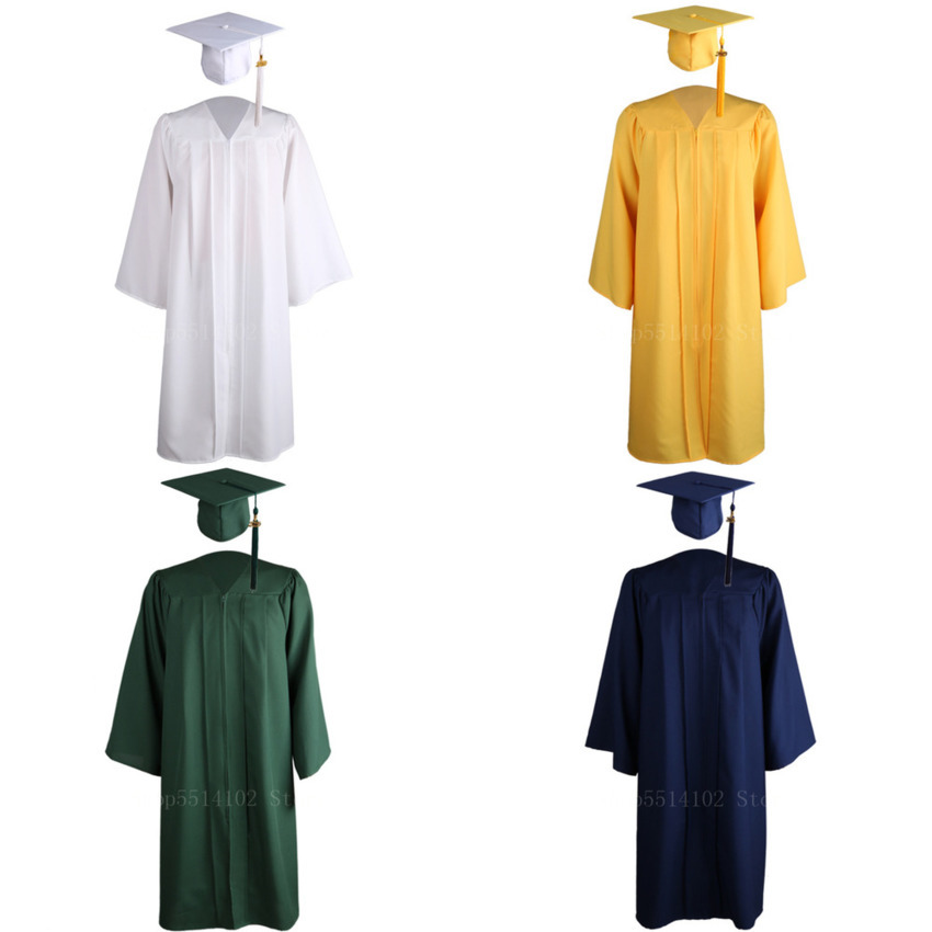 American University Student Graduation Academic Dresses Class Uniform Celebration Party Bachelor Gown Suit Gown Costume 6 Colors