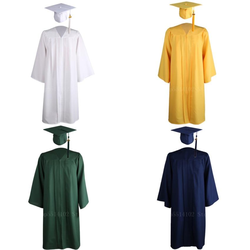 American University Student Graduation Academic Dresses Class Uniform Celebration Party Bachelor Gown Suit Gown Costume 6 Colors