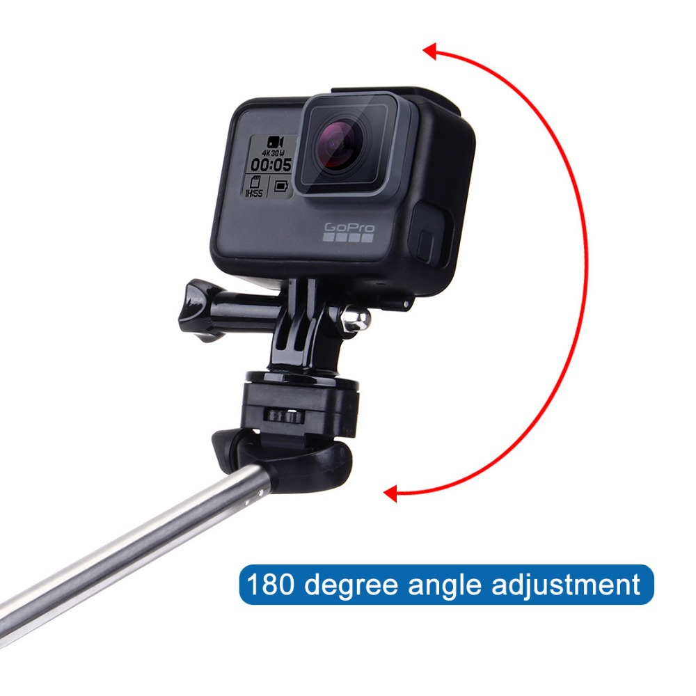 Selfie Stick with holder for Samsung Huawei Xiaomi Mobile Phone Monopod with 1/4inch Screw for GoPro Hero SJcam Yi Action Camera