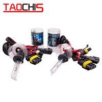 Taochis 12 v 35 w h1 hid xenon lâmpadas substituição farol do carro lâmpadas da motocicleta luzes de nevoeiro