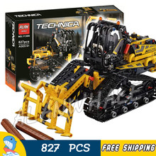 827pcs 2-in-1 Technic Multifunctional Tracked Loader Vehicle Dumper 11300 Model Building Kit Blocks Boy Toy Compatible With Lago(China)