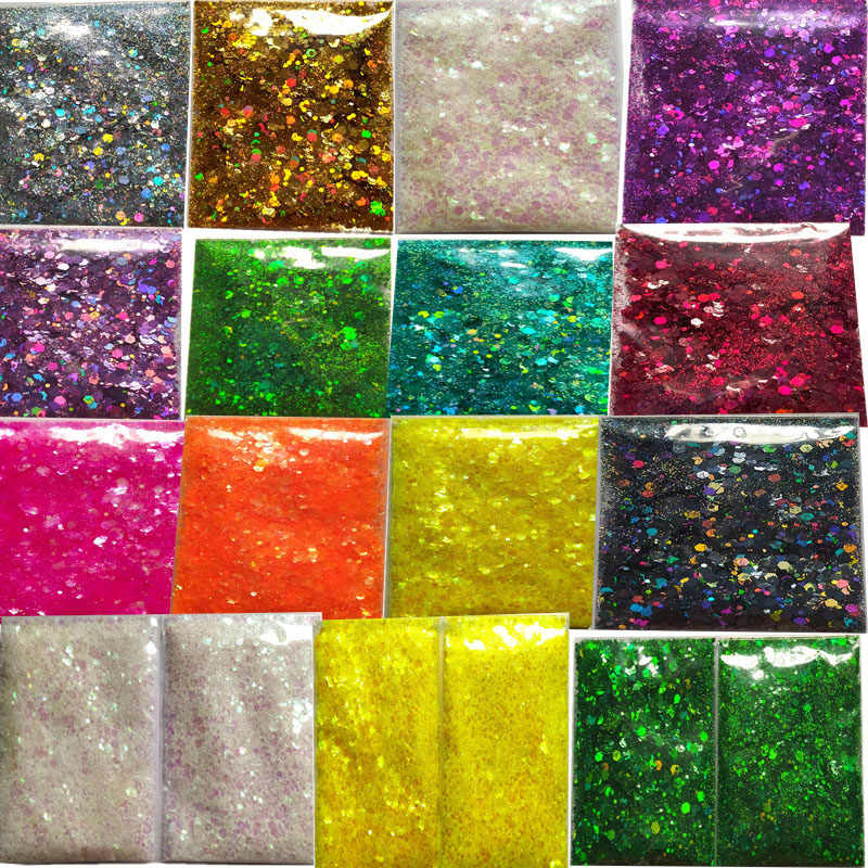 1 Pack 5G Nail Glitter Pailletten Kleurrijke 3D Hexagon Nail Paillette Poeder Sequin Spangle Polish Manicure Nail Art Decoraties