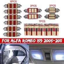 17pcs רכב LED פנים אור קריאת אור נורות ערכת דלת תא כפפות תא מטען מנורת עבור אלפא רומיאו 159 2005 2007 2008 2009 2010 2011