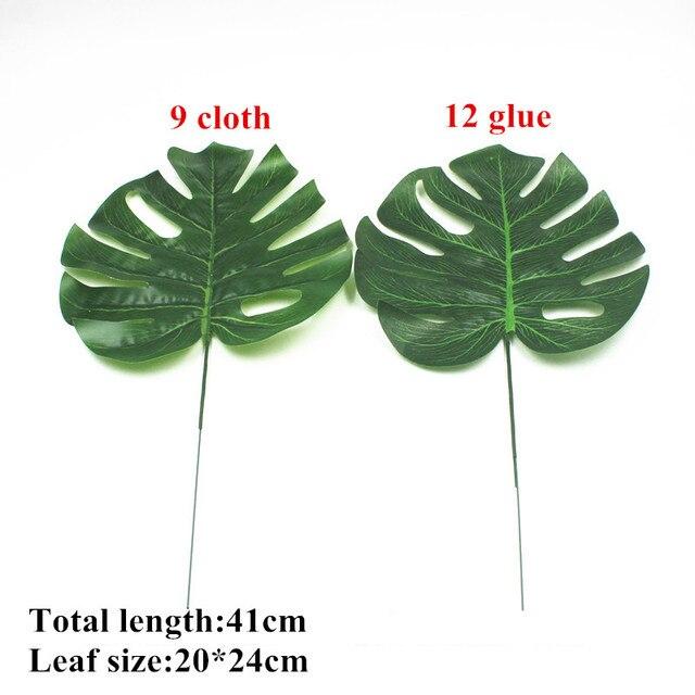 1pc Artificial Monstera Plants Plastic Tropical Palm Tree Leaves Home Garden Decor Accessories Photography Decorative Leaf