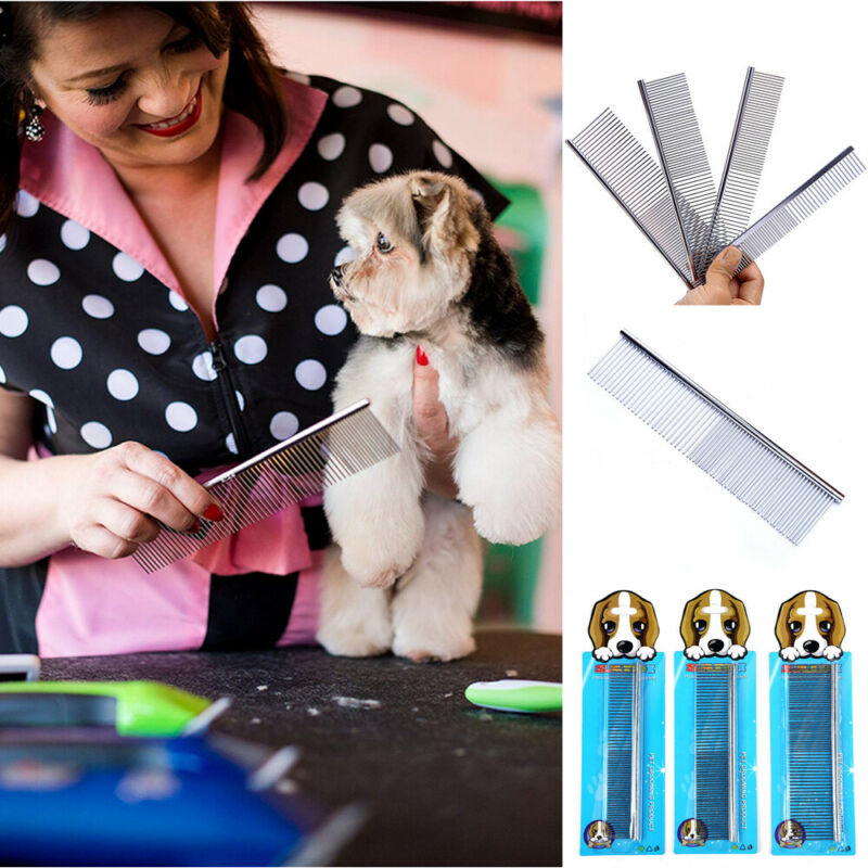 2019 Fashion Hot Sales Stainless Steel Comb Hair Brush Shedding Flea Cat Dog Pets Trimmer Grooming