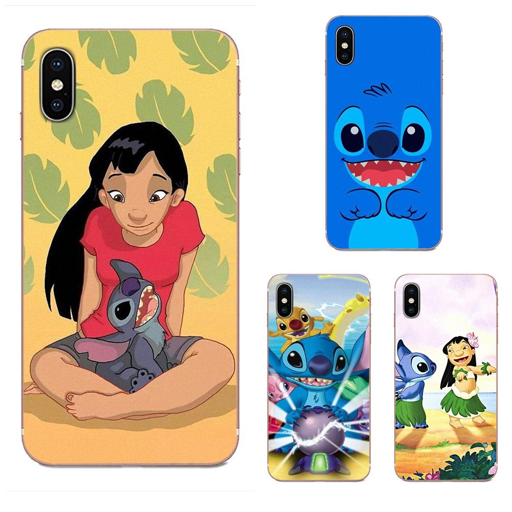 Soft TPU Phone For <font><b>Galaxy</b></font> Alpha Note 10 Pro A10 A20 A20E A30 A40 A50 A60 <font><b>A70</b></font> A80 A90 M10 M20 M30 M40 <font><b>Cute</b></font> Cartoon Lilo Stitch image