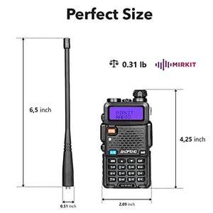 Image 5 - 2 шт., Двухдиапазонная портативная рация Baofeng, любительская радиостанция, портативная рация, диапазон 5 Вт, VHF/UHF, CB радио