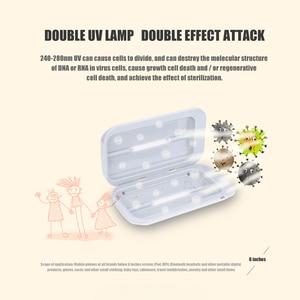 Image 5 - Portable UV Sterilizer Cabinet Phone Disinfectant UV Cleaner Mobile Double Ultraviolet Disinfection Lamp Mini Sterilization Box
