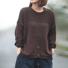 Johnature Autumn Winter Loose Leisure O neck Long Sleeve Knitted Sweaters 2020 New Fashion All match Female Pullovers Sweaters