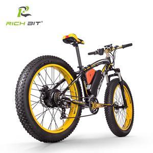 Image 3 - RichBit Electric Bike Powerful Fat Tire Electric Mountain Bike 48V 17AH 1000W eBike Beach Cruiser 21 Speed Electric Snow Bicycle