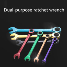 8-19mm Colorful Ratchet Wrench Multi-Function Dual-Purpose Open Movable El Aletleri Wrench Hand Tools Set Jogo De Chaves Catraca(China)