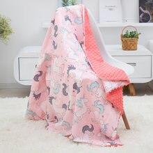 Newborne детское Минки одеяло мягкая фланелевая флисовая пеленальная
