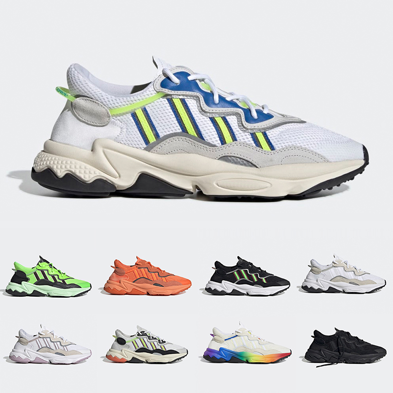 2019 Pride 3M Reflective Xeno Ozweego For Men Women Casual Shoes Neon Green Solar Yellow Halloween Tones Core Black Trainer