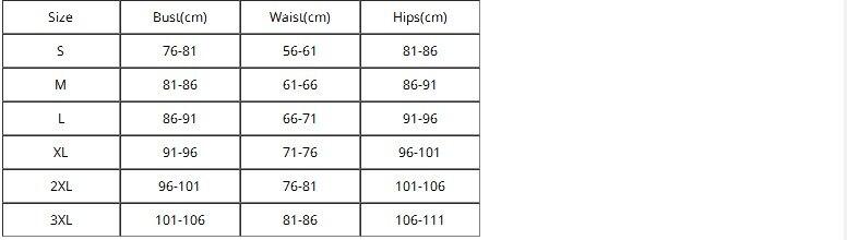 7321-2 SIZE CHART