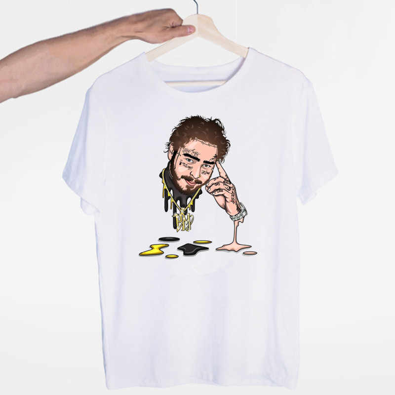 Post Malone Hip Hop T-shirt O-Neck Short Sleeves Summer Casual Fashion Unisex Men and Women Tshirt