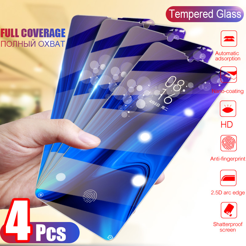 4Pcs Tempered Glass For Huawei Honor 10i 20 Pro Screen Protector Protective Glass For Honor 10 9 20 Lite 8S 8A 9X Honor 8X Glass