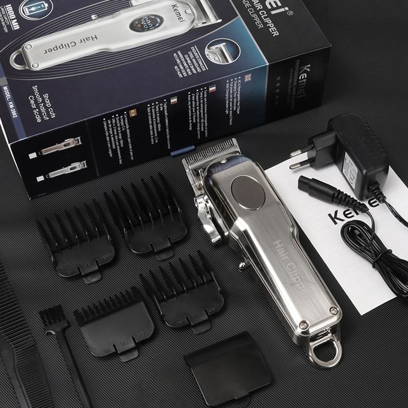 homens aparador de cabelo eletrico lcd cortador 05
