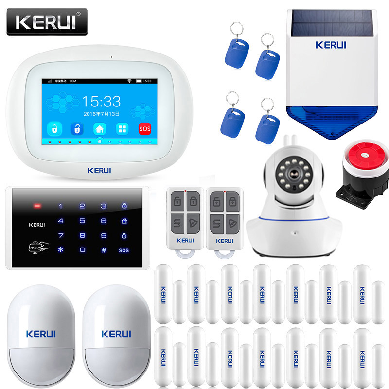 2019 KERUI K52 Smart Home Alarm System <font><b>4.3</b></font> <font><b>Inch</b></font> <font><b>TFT</b></font> Color Display Remote Control Touch Screen WIFI GSM Alarm Security Kit image
