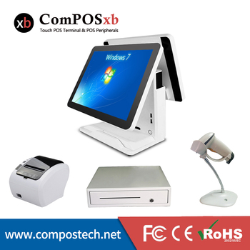 China factory price 15 inch capacitive touch screeen pos systems for retail pos pc for retail