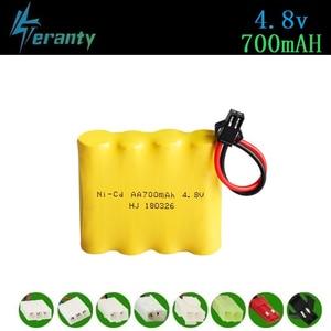 700mah 4.8v Battery For Rc toys Cars Tanks Robots Guns Ni-cd Rechargeable Battery AA 4.8v 700mah Battery Pack For Rc Boat 1Pcs(China)