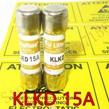 Fusível rápido americano de 5 pces klkd 15a littelfuse10 * 38/fusível importado original 15a600v