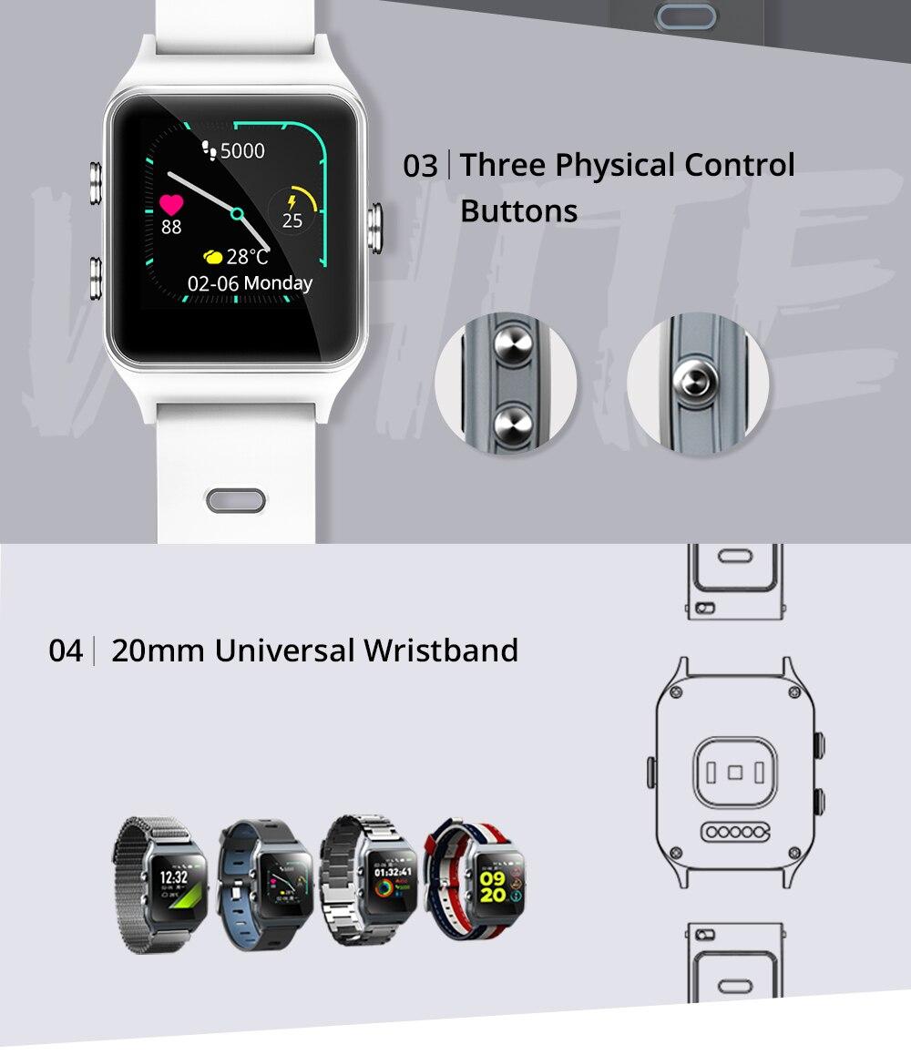 Dropshipping Makibes BR3 Strava Smartwatch Men Built-in GPS Smart Watch IP68 Waterproof Fitness Tracker Heart Rate Monitor Watch (3)